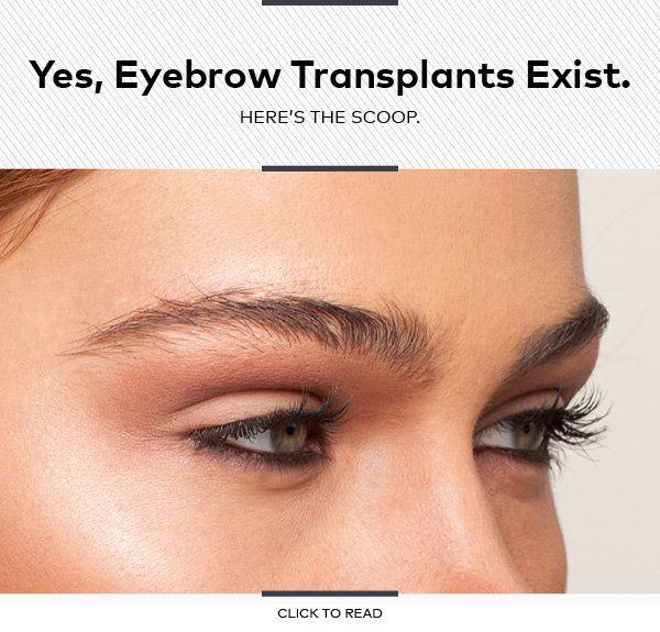 Yes, Eyebrow Transplants Exist. Here's the Scoop.