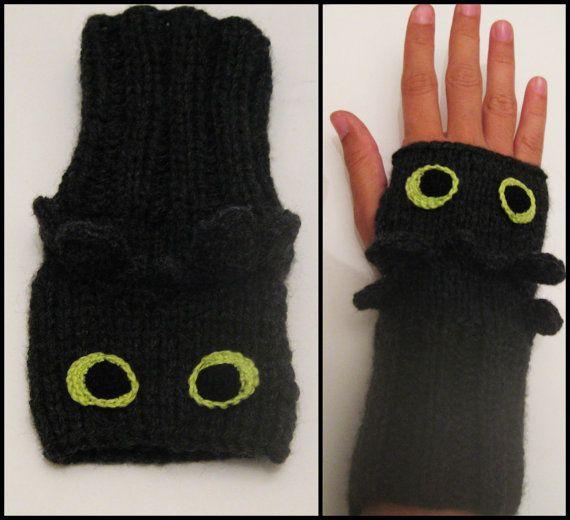 Édenté / Comment dresser votre Dragon mitaines / Fingerless gants