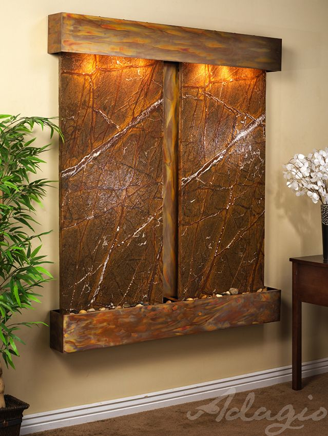 An Interior Waterfall Fountain Is Great For The Home And Defines Peace And  Tranquility. Has