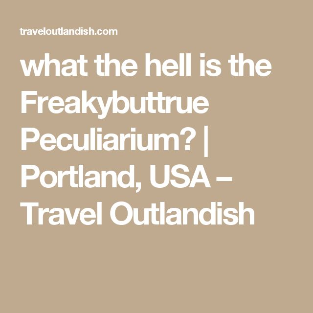 what the hell is the Freakybuttrue Peculiarium? | Portland, USA – Travel Outlandish