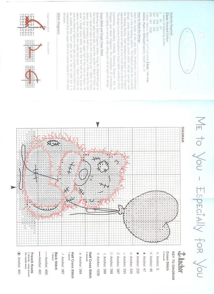 Schema punto croce Orsetto Pallone 2