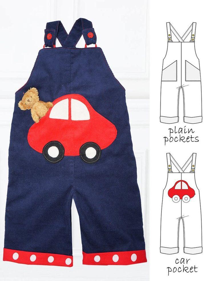 CHARLIE - Boys Romper Sewing Pattern - 2 pocket options