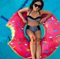 Pink #donut #floatie for sweet days spent chilling in the pool