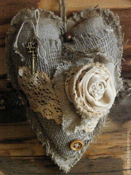 """Подвески ручной работы. Ярмарка Мастеров - ручная работа Текстильное сердце """"Бохо-2"""". Handmade."""
