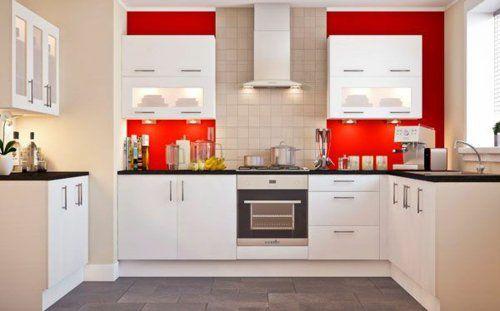 u-form küche moderne Küchenschränke symmetrisch