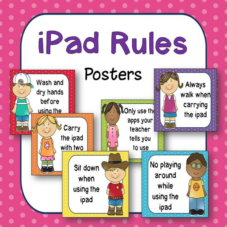 iPad Rules posters! Great for classroom or computer lab use. $