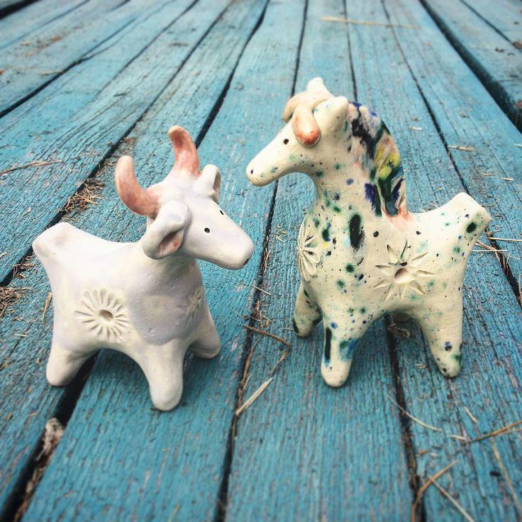 Коровка и лошадка