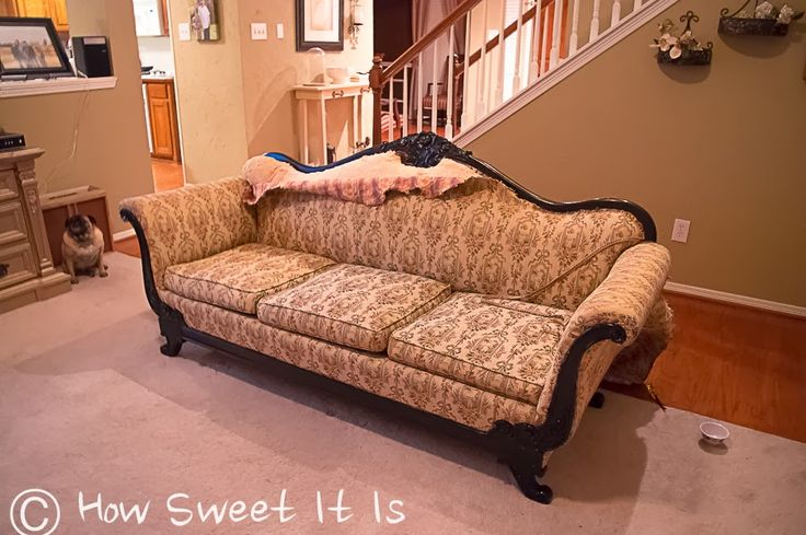 How To Recover A Vintage Sofa Diy Ideas Pinterest