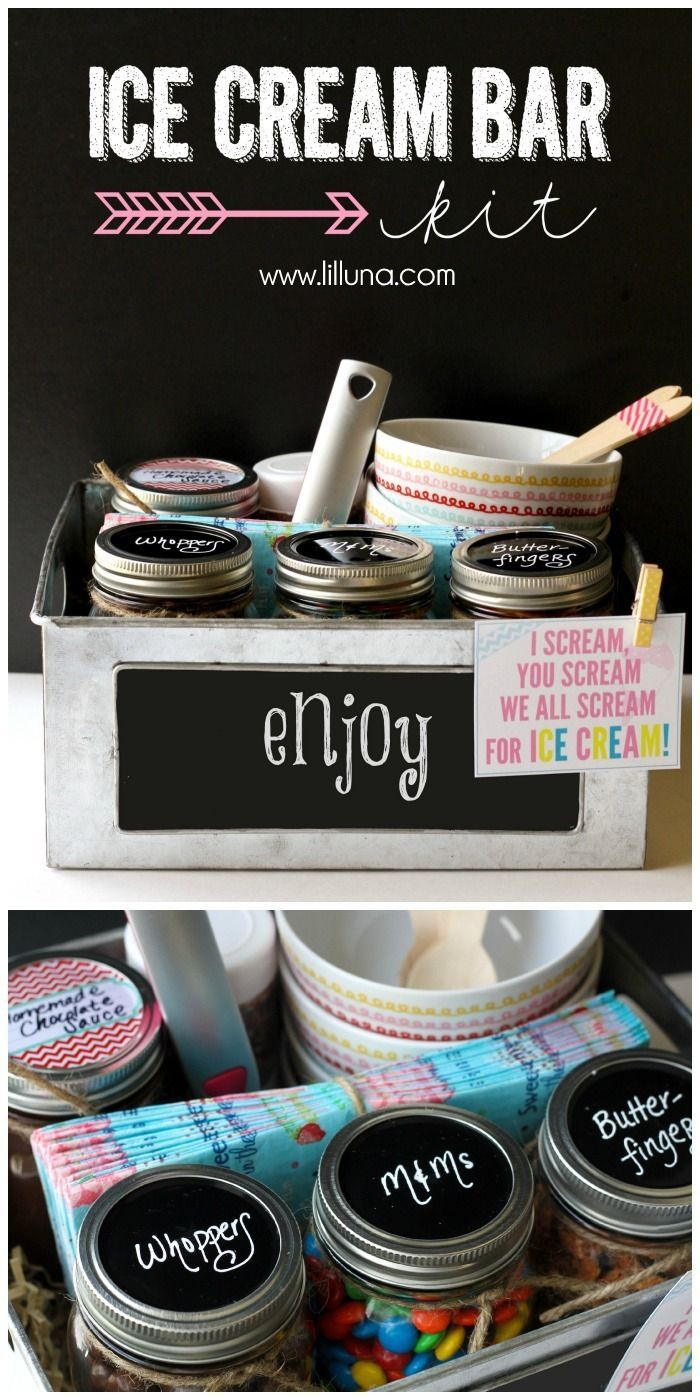 Ice Cream Bar Kit - perfect for parties or for a gift! { http://lilluna.com }