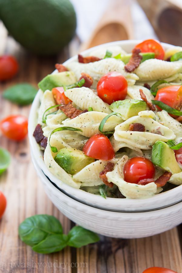 Creamy Avocado Pasta Salad - I can veganize this!