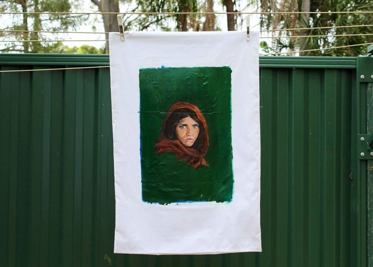 'The Afghan Girl' By Shanay. #Acrylic on #linen.