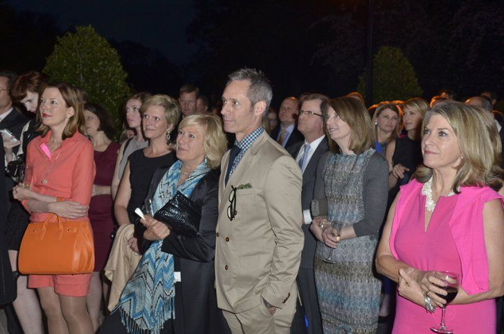 Pin for Later: When Fake DC and Real DC Collide  Husband and wife and House of Cards costars Michael Gill and Jayne Atkinson stayed close at the Capitol File event on Friday.