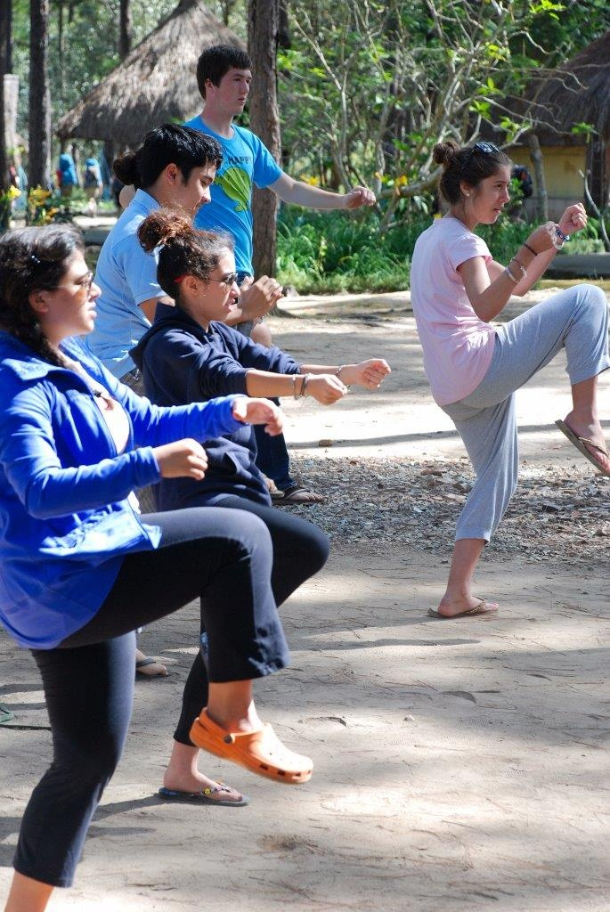 Kung Fu classes in Dalat. Central Highlands of Vietnam