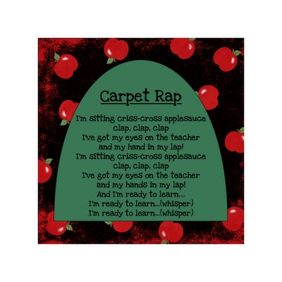 Classroom management. love it! I just have to figure out how to rap this! lol
