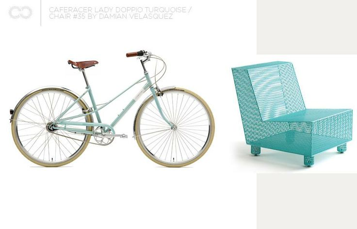 Creme Caferacer Lady Doppio Turquoise + Chair #35 by Damian Velasquez  #bike #creme #cycles #cremecycles #cycling #ride #mybike #freedom #lifestyle #art #life #love #city #cyclingphotos