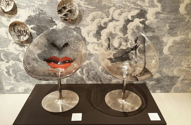 Italian artist 'Piero Fornasetti' exhibition [Mouth/Venus, 2005] Chair by Kartell