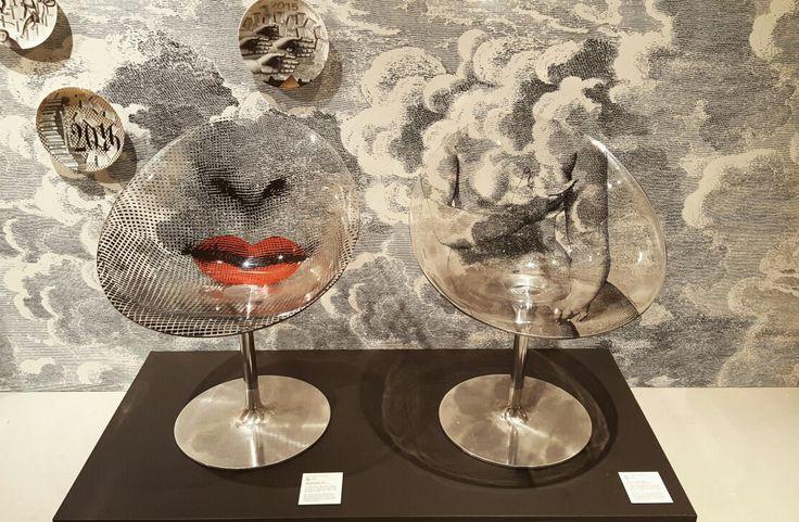 Italian artist 'Piero Fornasetti' exhibition [Mouth/Venus, 2005] Chair by Kartell