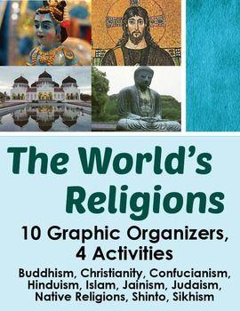 World Religions - 10 Graphic Organizers, 4 Activities Plus!
