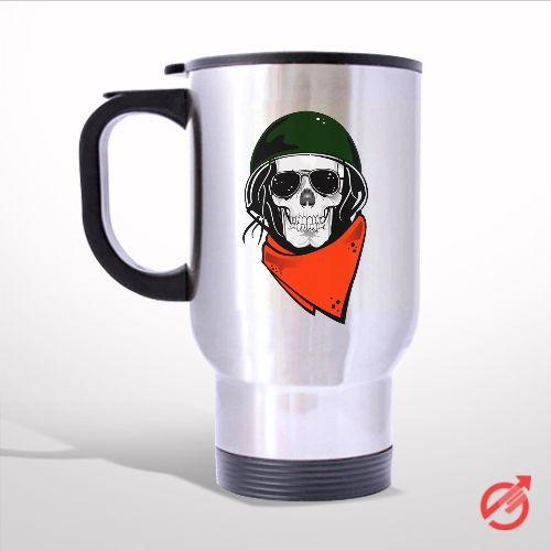 Skull Character Travel Mug