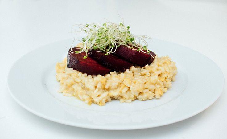 vegansk risotto med saltbakte rødbeter oppskrift vegetar vegetarbloggen