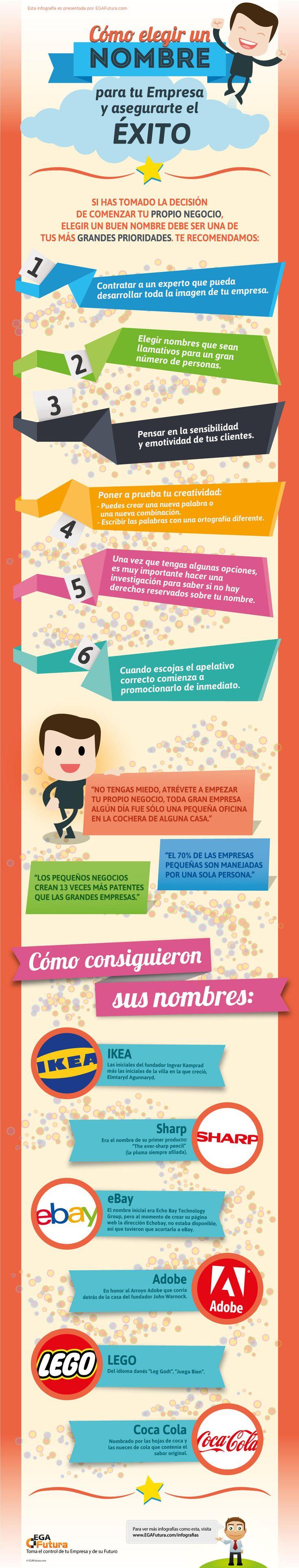 Cómo elegir el nombre de tu empresa y asegurarte el éxito || #infografia #infographics #marketing