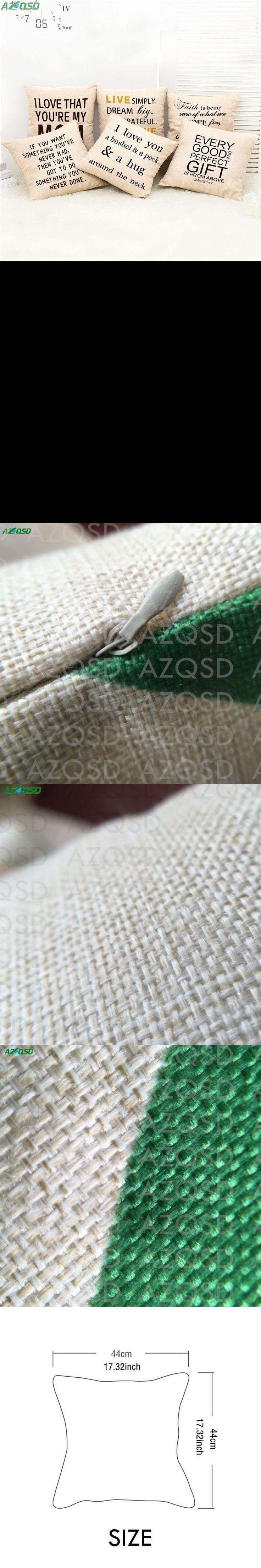 AZQSD Minimalist Cushion Cover English Sentences Decorative Pillow Case Seat Sofa Covers Home Decor capa de almofada BZ025 $10.49