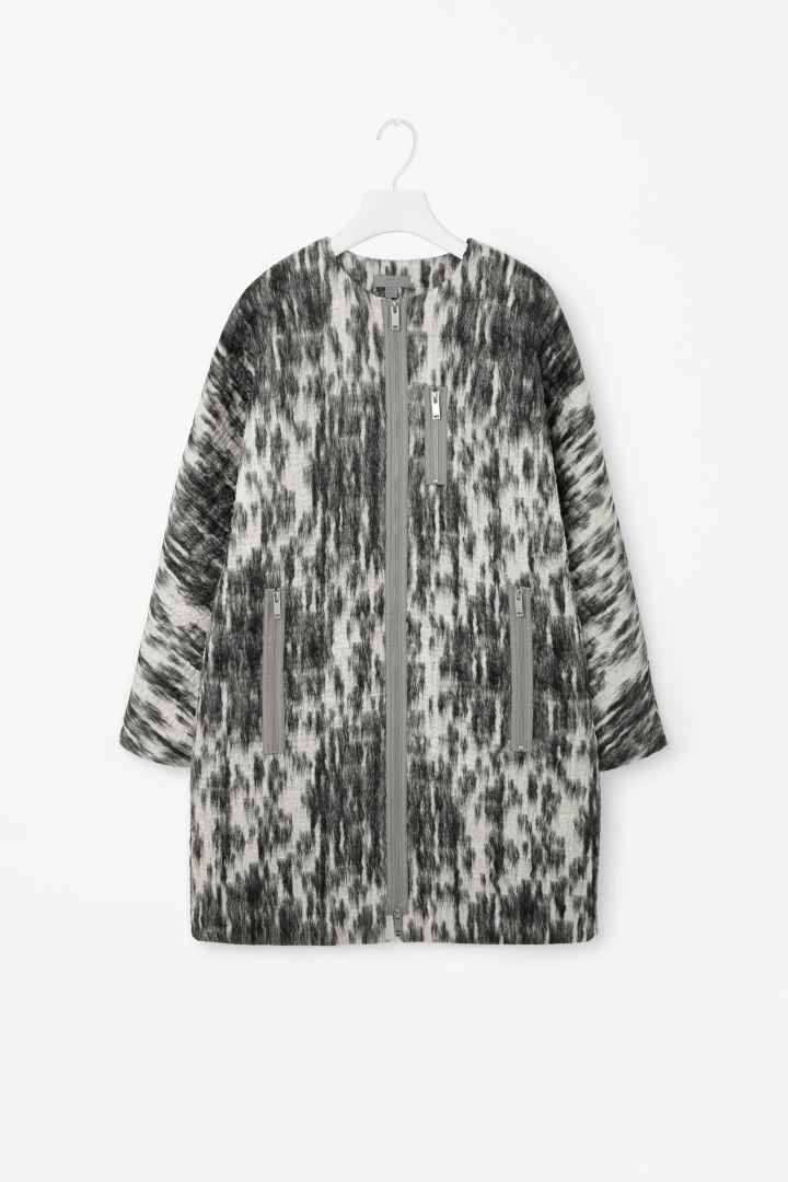 COS | Textured zip-up coat