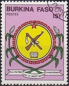 Burkina Faso 1985 Flags and Symbols
