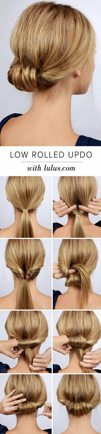 #lowrolled #hairbun #stepbystep #tutorial