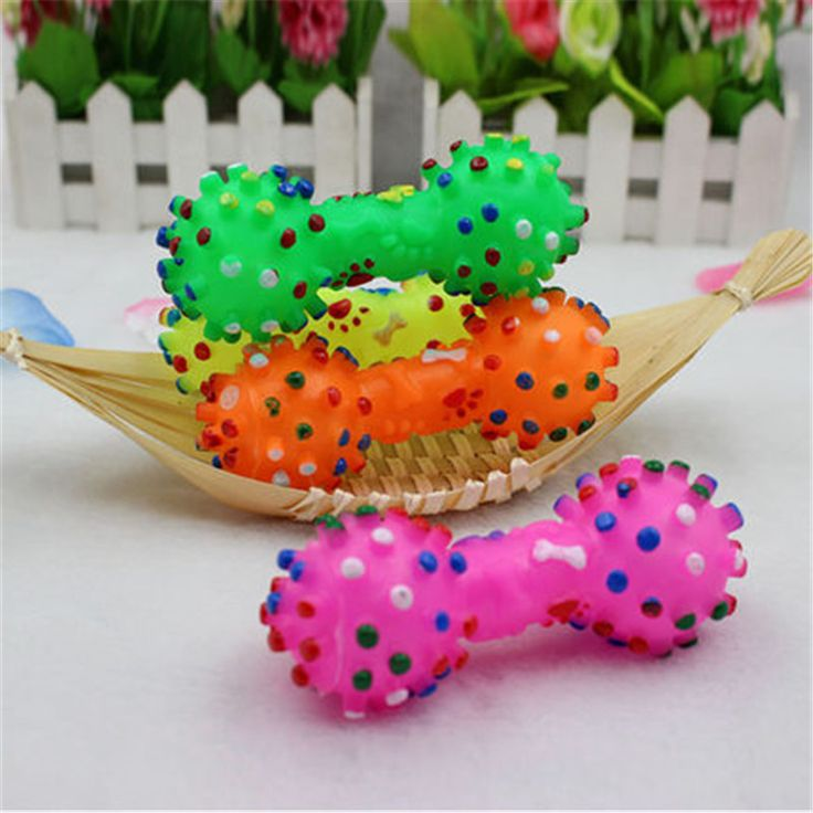Pet Dog Cat Puppy Sound Polka Dot Squeaky Toy Rubber Dumbbell Chewing Toy Funny Hot Sale -  http://mixre.com/pet-dog-cat-puppy-sound-polka-dot-squeaky-toy-rubber-dumbbell-chewing-toy-funny-hot-sale/  #DogToys