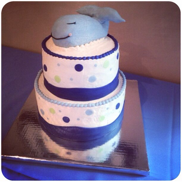 Whale baby shower cake!!!