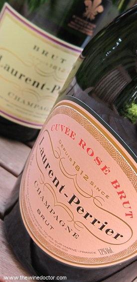Laurent-Perrier Brut and Cuvée Rosé Brut