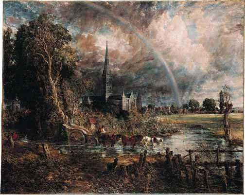 Salisbury Cathedral from the Meadows, 1831.