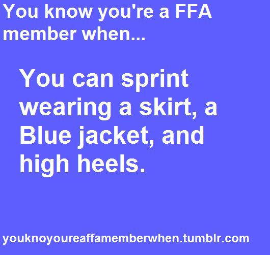 So many sprints in the blue jacket, black skirt, and high heels... Wouldn't trade 'em for the world.