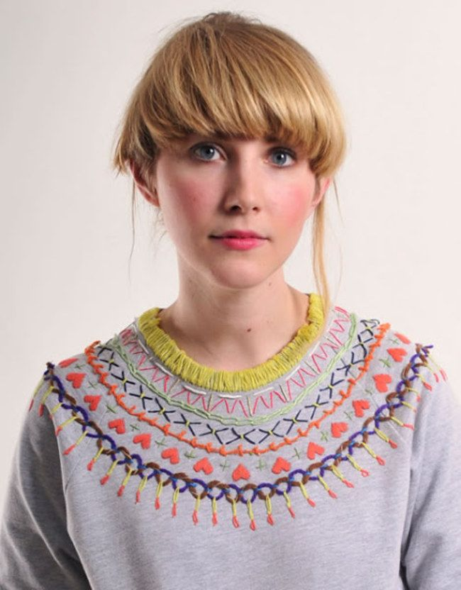 Upcycling-Ideen: Bestickte Pullover