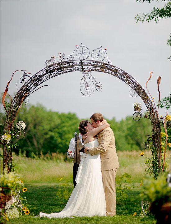 bicycle wedding arch
