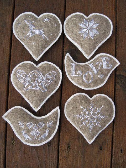 Nordic Christmas Cross Stitch Bowl Fillers/Ornaments от twood59