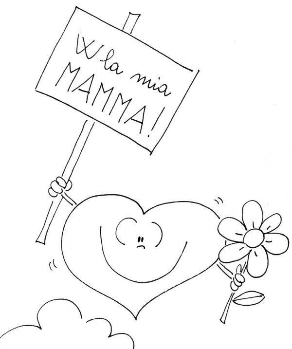 Auguri Mamma Disegni Per Bambini Da Stampare E Colorare Disegno Per Bambini Festa Della Mamma Idee Per La Festa Della Mamma