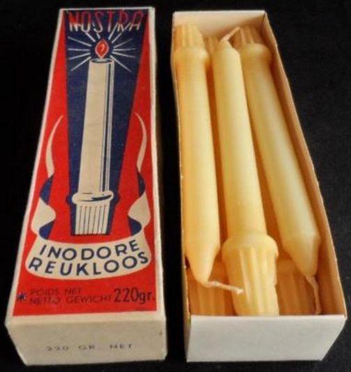 Nostra kaarsen - zes kaarsen met een lengte van 19 cm - inodore / reukloos