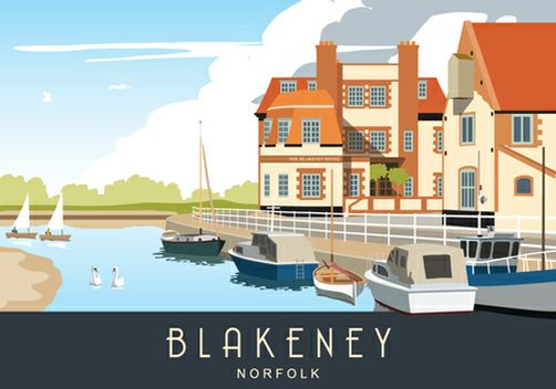 Blakeney blue landscape. Available from www.whiteonesugar.co.uk starting at £12,