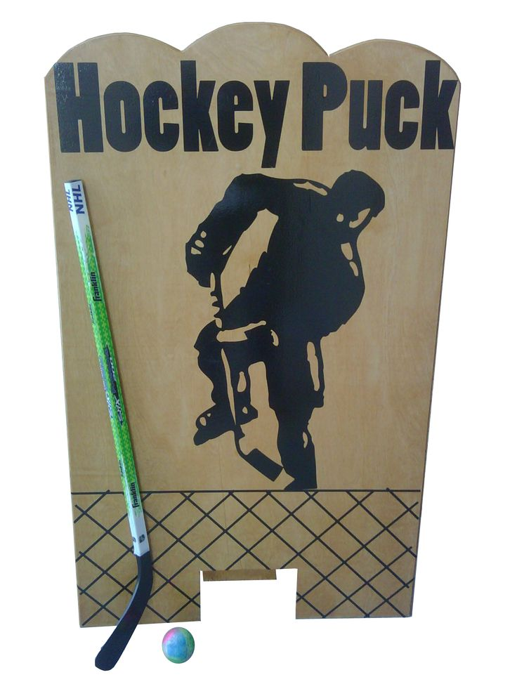 "Hockey game idea Make it a fairly small opening... Any pucks go through... = drink ticket & added to the ""board""... Highest scorer wins a prize @ the end of the night."