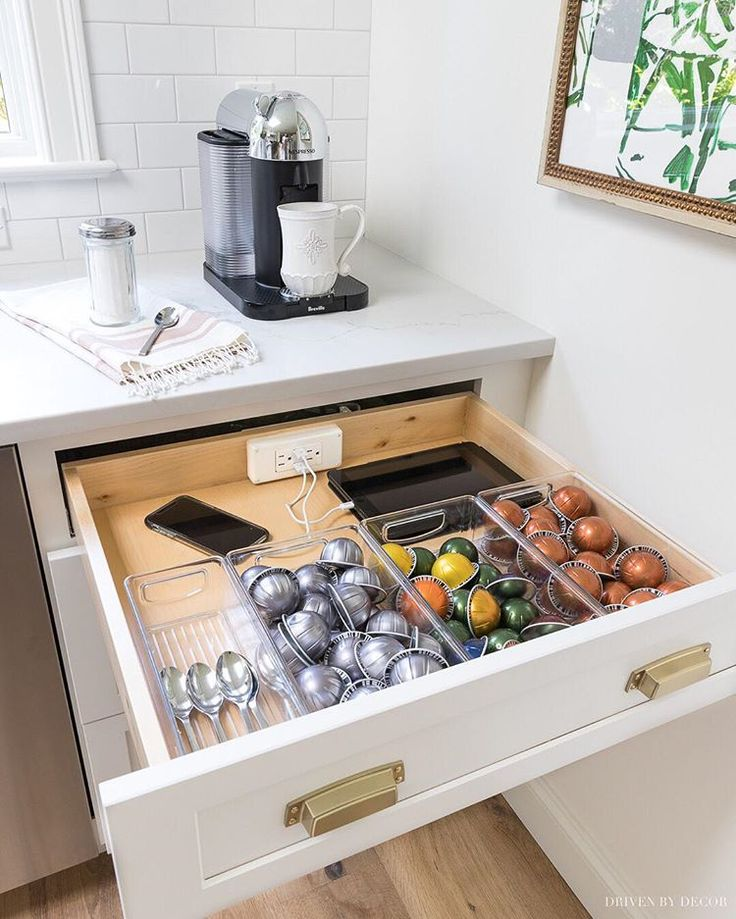 power outlets in drawers | kitchen drawers, kitchen