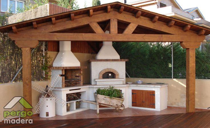 Kiuvo dise os de asadores para el hogar ideas para el for Patio con piso de madera