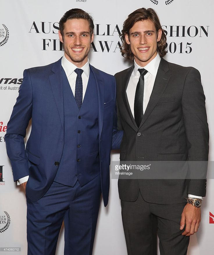 Jordan Stenmark and Zac Stenmark attend the Australian Fashion Film Awards at Sky Lobby, Westfield Sydney on May 20, 2015 in Sydney, Australia.