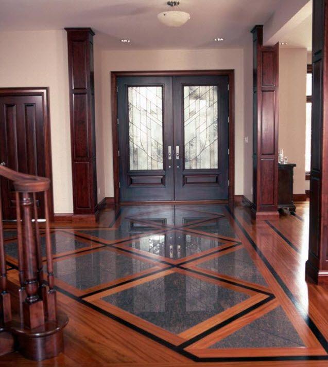 25 best flooring ideas images by teresa stevens on for Inlaid wood floor designs