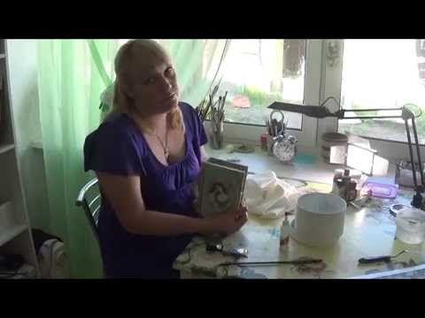 МК декупаж свечи и елочного шара Винтажный полет - YouTube