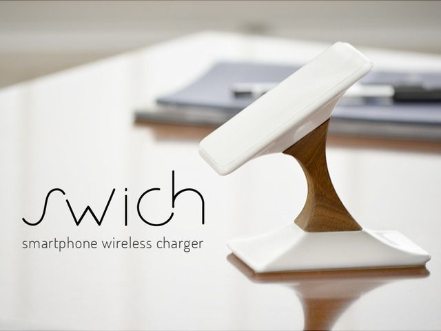 Swich is a sophisticated wireless charger for smartphones. A mobile accessory for iPhone and Android made from sustainable materials.