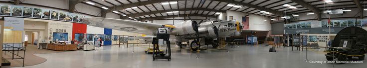 """Pima Air and Space Museum - Tucson, Arizona. The restored B-17 """"I'll Be Around"""" is the 390th Memorial museum's main exhibit."""