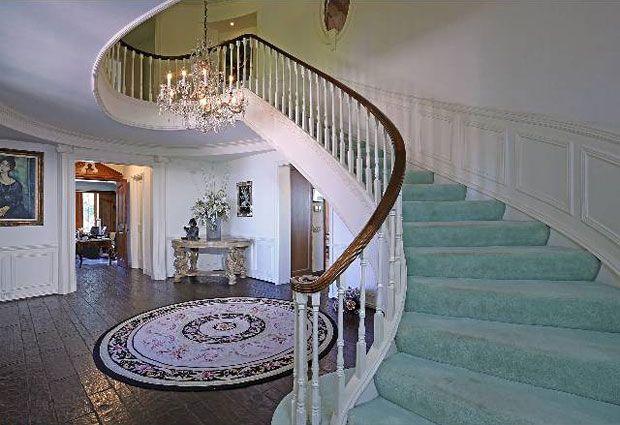 Grand sweeping staircase. Very elegant.