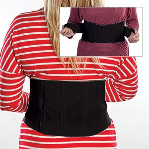 """Product # 62419 - Relieve back pain and correct poor posture! Criss-cross design and adjustable elastic strap provides a custom side and support to lumbar area. 8-1/2""""H in back"""